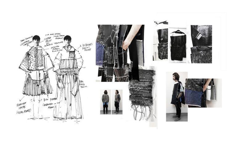 Fashion Sketchbook - fashion collection development with fashion sketches & textile research // Ximon Lee.  sketchbook, fashion design, layout, design