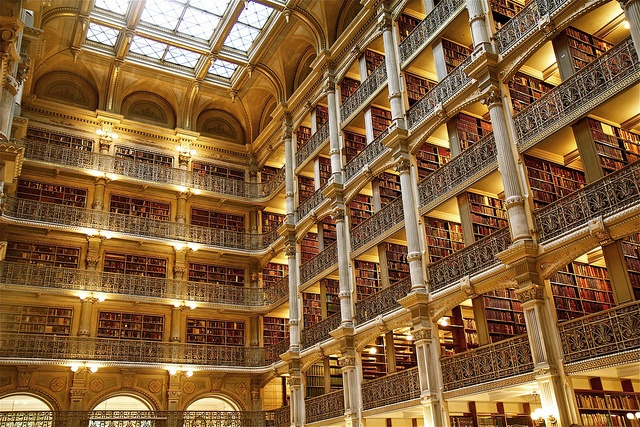 Cathedral of books | George Peabody Library  The Johns Hopkins University- Baltimore, MD