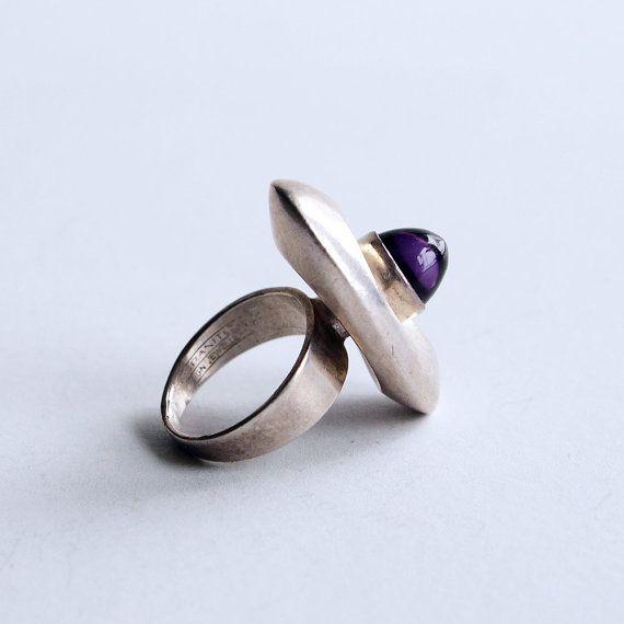 Erik Granit, vintage silver ring. #Finland