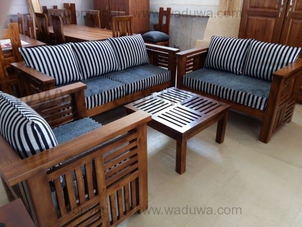 Awesome Wood Sofa Set Price In Sri Lanka In 2020 Wood Sofa Sofa Set Price Sofa Set