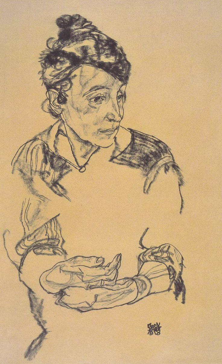 Egon Schiele (1890 – 1918) - Portrait Of Schiele's Mother