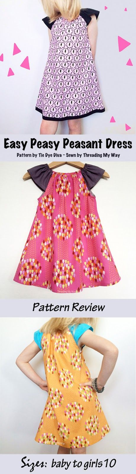 Easy Peasy Peasant Dress - Pattern Review ~ Pattern by Tie Dye Diva ÷ Sewn by Threading My Way