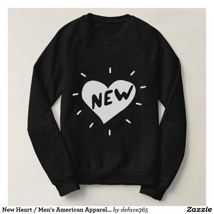 New Heart / Men's American Apparel Sweatshirt