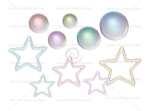 Parels en glazuur sterren waarde ingesteld digitale