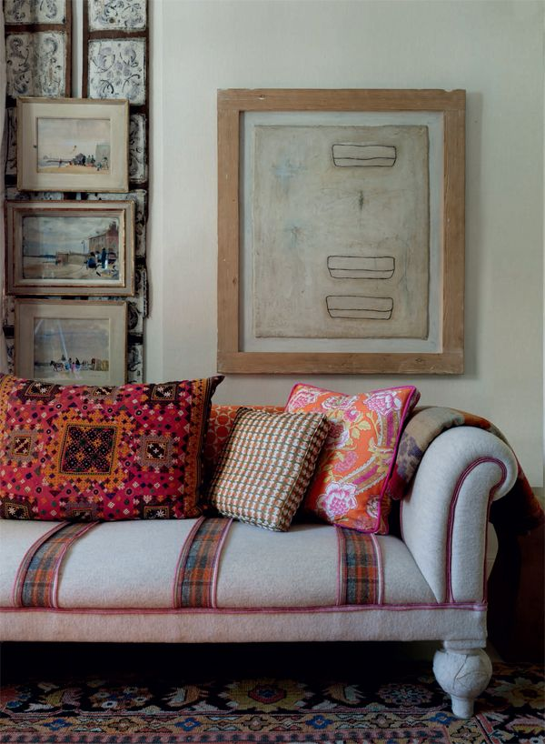 Bohemian beauty by designer Kit Kemp, showcased at anthologymag.com