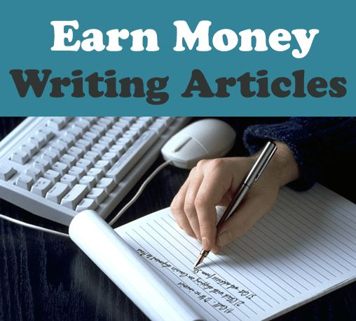 earn by writing articles online Check it out by visiting 46 more websites that will pay you to write you can make money writing articles for these 30+ sites:  features 46 additional websites.