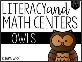 FREEBIE! Owls Kindergarten Themed Centers  *This is a FLASH FREEBIE through 10/31* Thanks so much for viewing my Kindergarten Themed Literacy and Math Owl Centers.  This is a freebie packet that includes 5 literacy owl themed centers and five math centers!