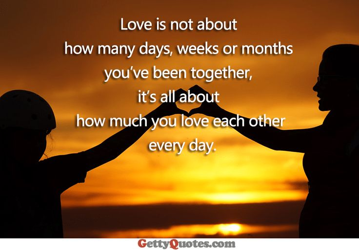 Love Is All About How Much You Love Each Other Every Day