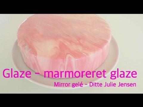 Mirror glaze - marmoreret glaze - How To glaze - Ditte Julie Jensen - YouTube
