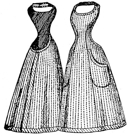 Past Patterns: #993: Apron: 1896.  Very interesting design.  I wonder if Ma Ingalls would have worn something like this.