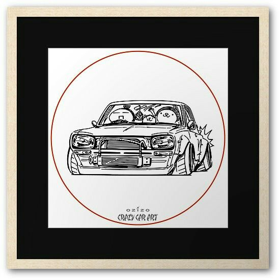 Crazy Car Art 0002 / Framed print