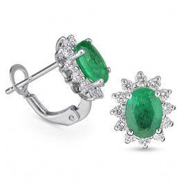 Bijuteria teilor: Cercei diamante si smaralde