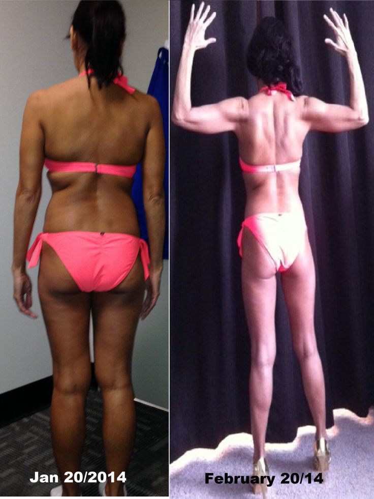 Results after 4 weeks with a strict diet with high protein and lots of ...