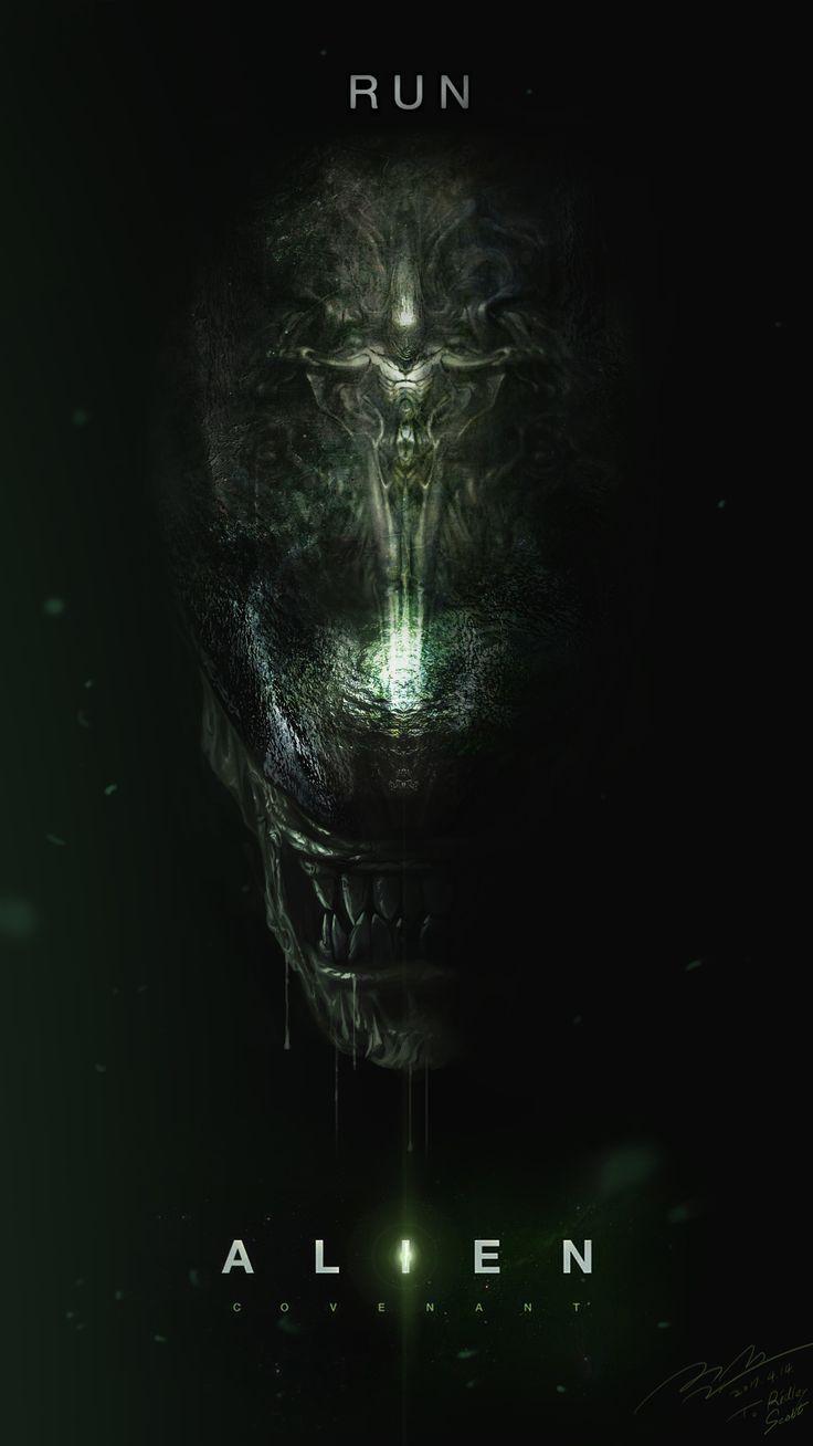"ArtStation - ""Run"" - Alien Covenant Fan art Poster, Jun Seong Park"