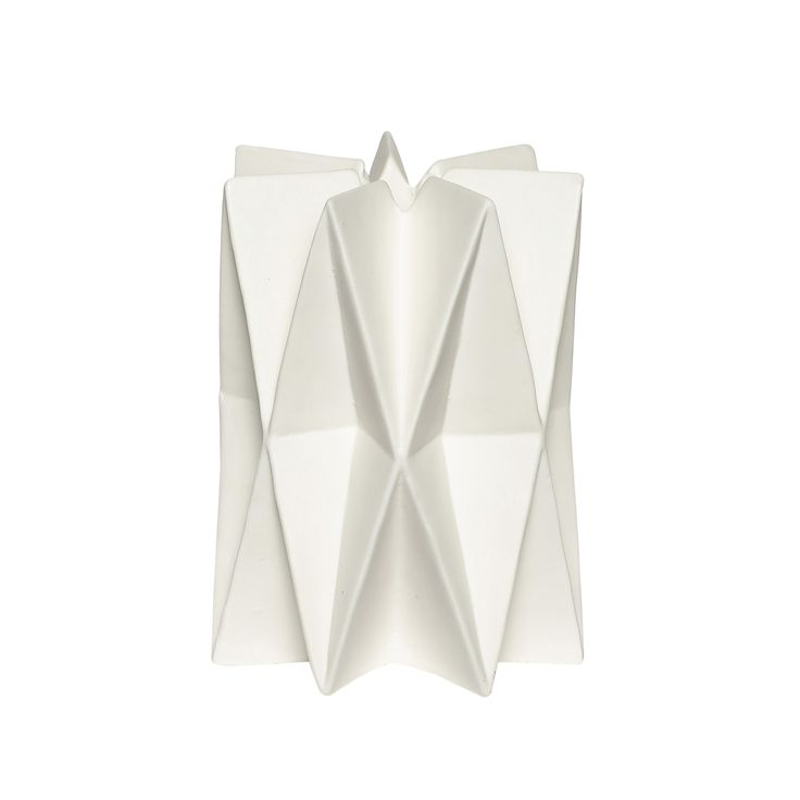 White porcelain candlestick. Product number: 640122 - Designed by Hübsch