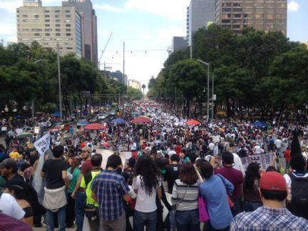 Megamarcha contra el fraude electoral en México