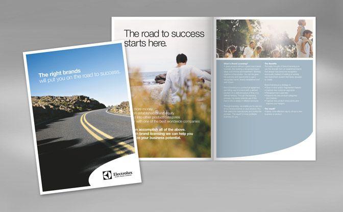 Brochure Design Electrolux Brand Licensing Brochure