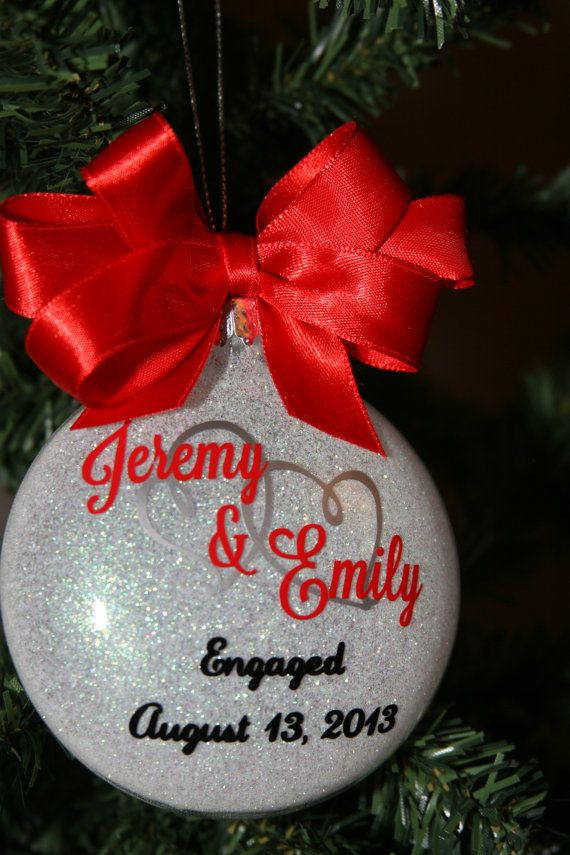 Engagement Christmas Ornament Custom Gift Personalized Tree Ornaments 1st Gifts