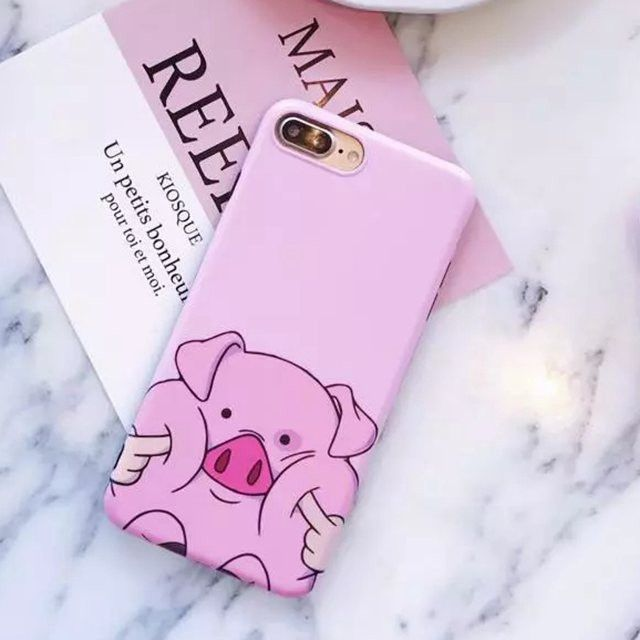 2017 New Fashion Cute Cartoon Pink Pig Phone Cases For iPhone 7 case Soft Silico…