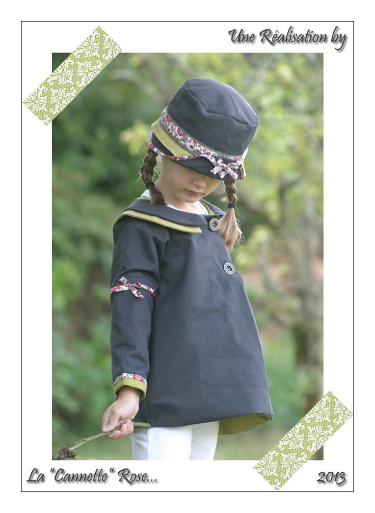 Manteau CEPHEE revisité, Grains de Couture pour Enfants, Ivanne SOUFFLET, by La Canette Rose
