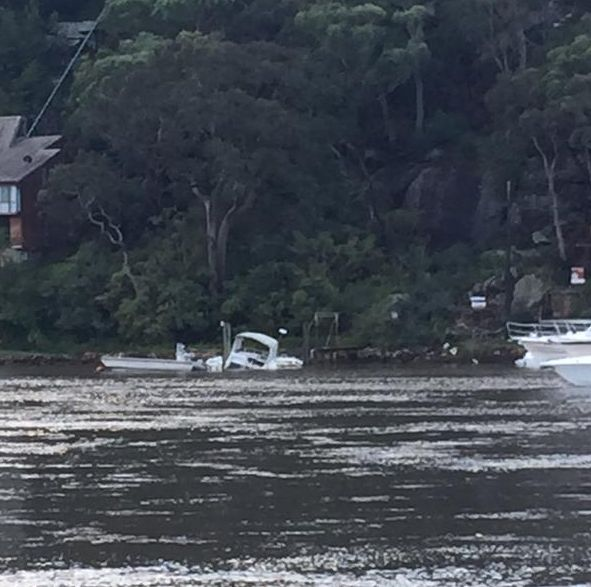 Boat sinking on the Georges River