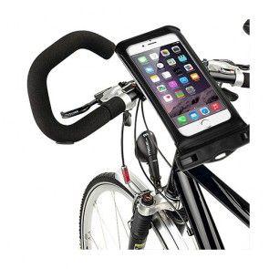 IPX8 Vandtæt Pose med Cykelholder til 5,5'' Smartphones, Størrelse: 16 x 8,2cm - Sort