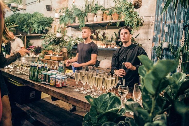 A beautifully green engagement party at Glasshaus Inside, Cremorne Victoria Australia #engagement #greenery #catering #event #wedding #foliage