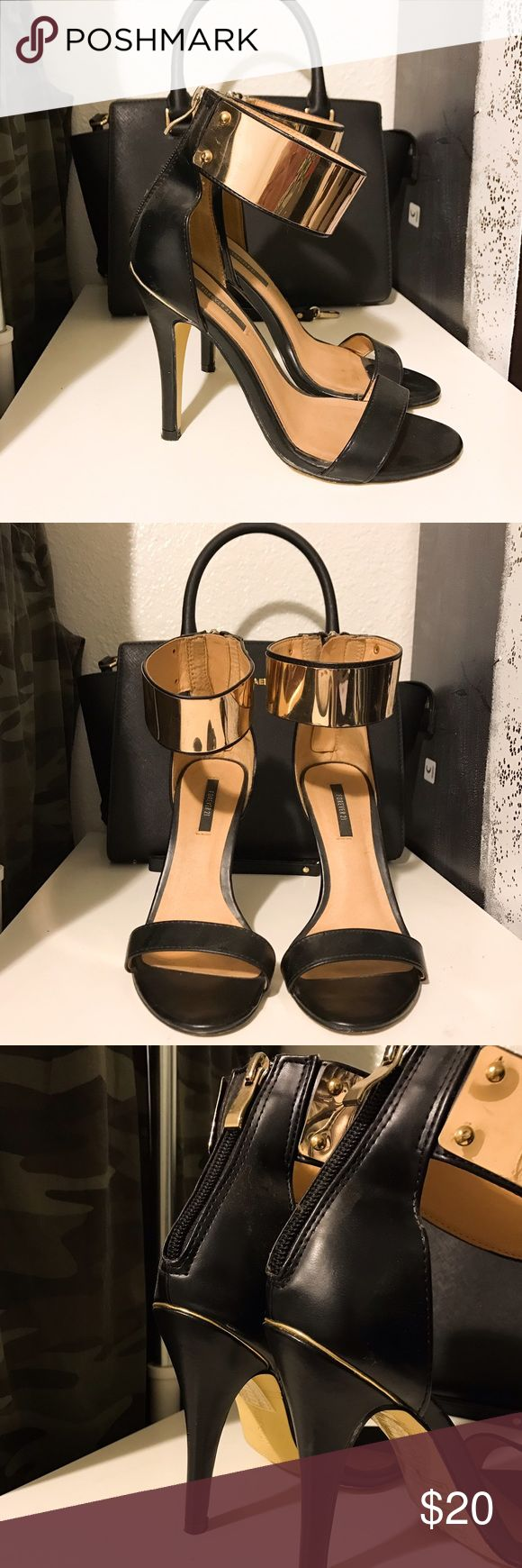 ♡ FOREVER 21 GOLD STRAP HEELS ♡ ♡ Size too big for me. I'm a six and a half but only used once. Still in good condition,new. ♡ Forever 21 Shoes Heels