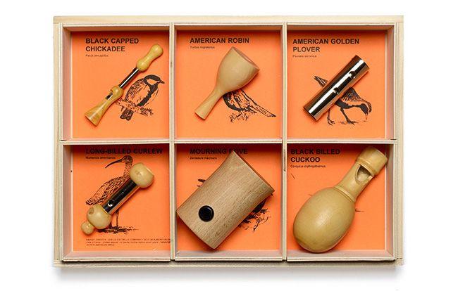 Silbatos: artesanía y diseño en la observación de aves
