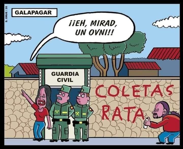 Pablo Iglesias Coletas Guardia Civil Español Coletas
