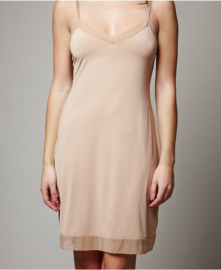 Full Length Slip - Lingerie After much anticipation and demand, we are now offering an above the knee slip in both Nude and Black.