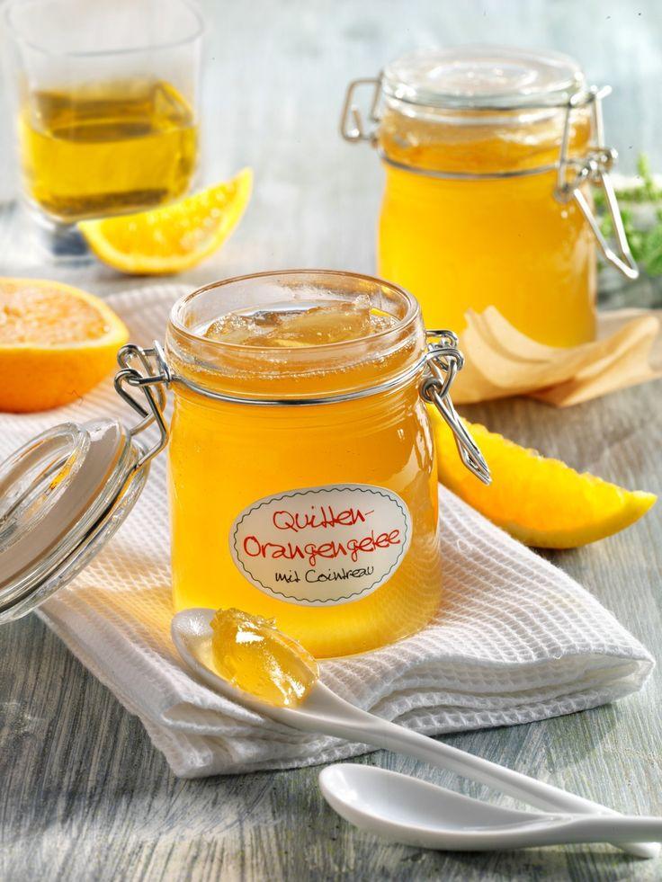 Aromatisches Orangen-Quittengelee, mit Orangenlikör verfeinert: eine prickelnde Abwandlung des Klassikers!