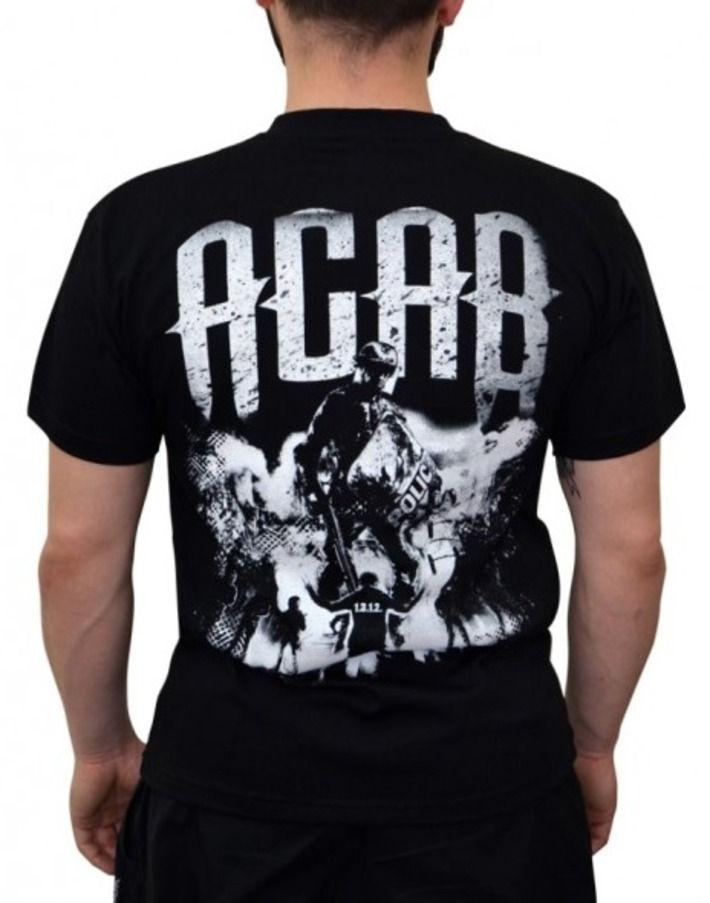 Koszulka 'ACAB' - tył ---> Streetwear shop: odzież uliczna, kibicowska i patriotyczna / Przepnij Pina!