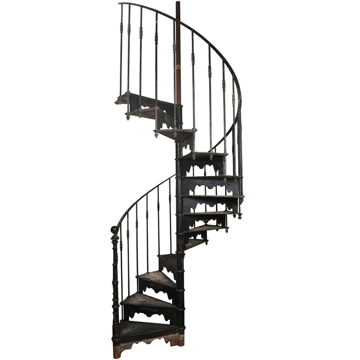 Cast Iron Spiral Staircase, French