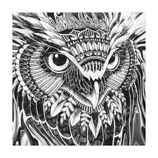 abstract owl print
