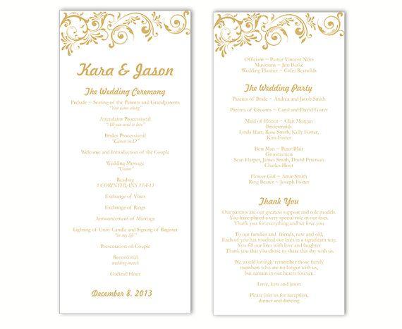 wedding bulletin template