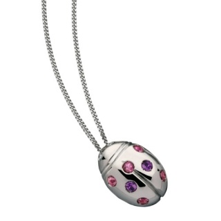 Ladies' Necklace in 18Kt White Gold with diamonds, pink tourmaline, amethystes by Flores Gioielli Personal Jewels