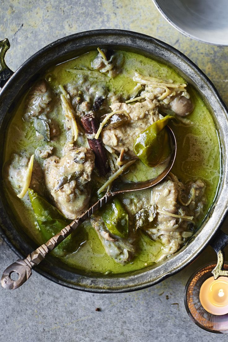 Comforting spiced mild chicken curry from everyone's favourite, Vivek Singh.