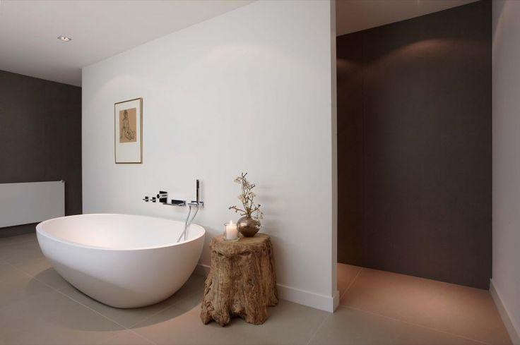 Douche Afvoer Repareren ~ Luxe badkamer ontwerp met ronde badkuip