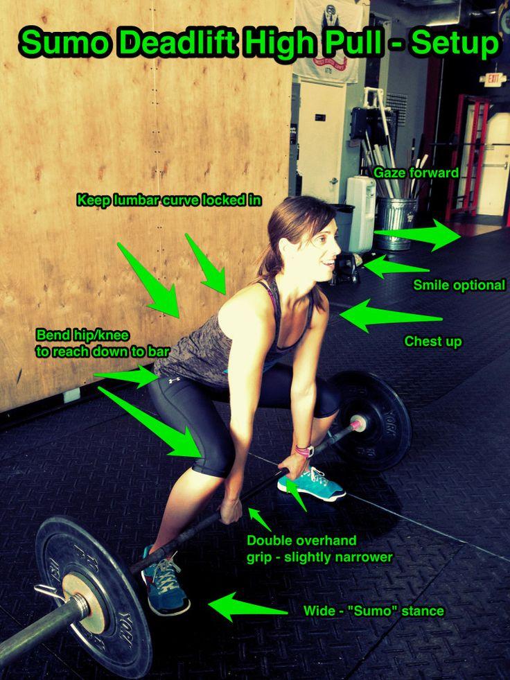 The Sumo Deadlift High Pull A Crossfit Movement A Gym Life Deadlift Workout For Beginners Deadlift Women