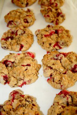 Just Because I am Me: My Favorite Fresh Cranberry Oatmeal Cookies