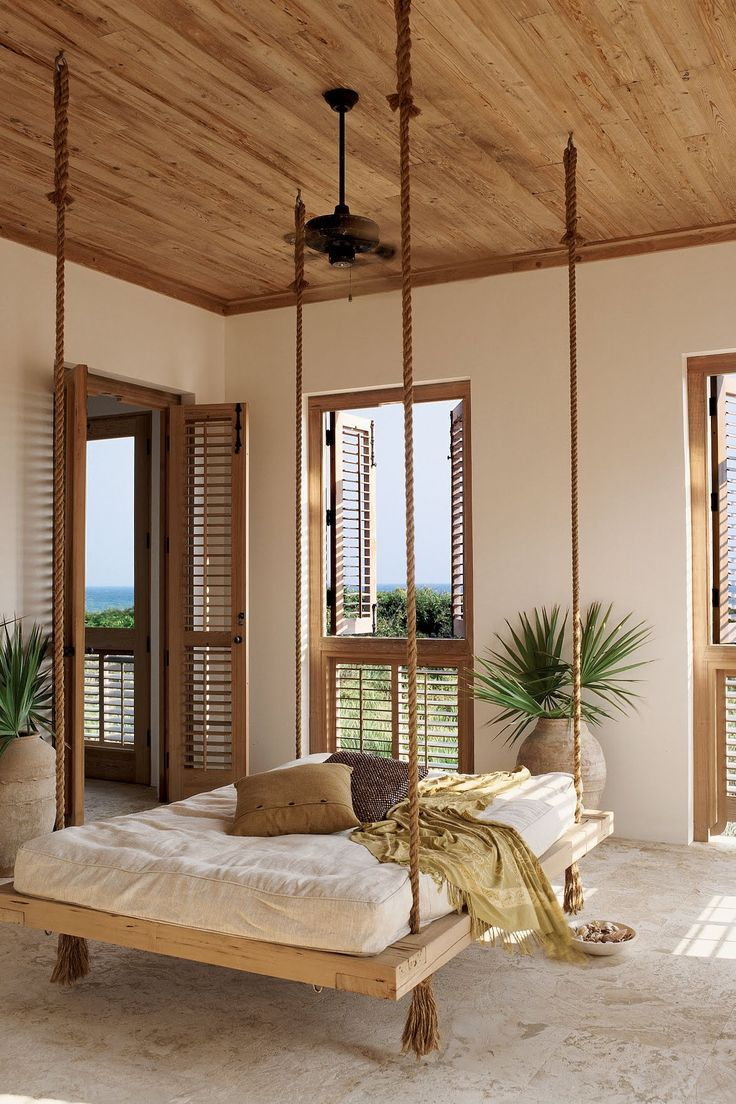 Off the first-floor master bedroom in this Asian- and