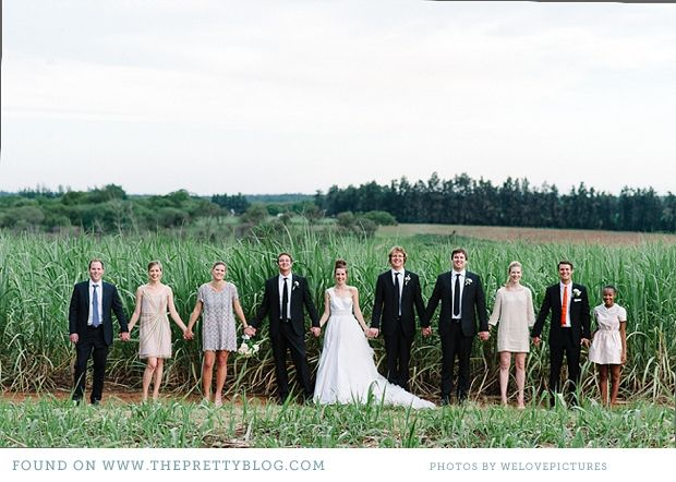 but with bridesmaids and groomsmen in order