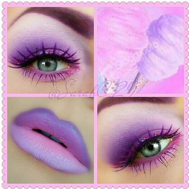 So very lovely! Sarahc_29 created this sweet cotton candy look using her #Sugarpill eyeshadows (Poison Plum, Dollipop, Tako) and eyelashes (Angel Baby) with #EyeKandycosmetics glitter. On her lips is #occ Ophelia lip tar set with Sugarpill eyeshadows for an amazing gradient effect!