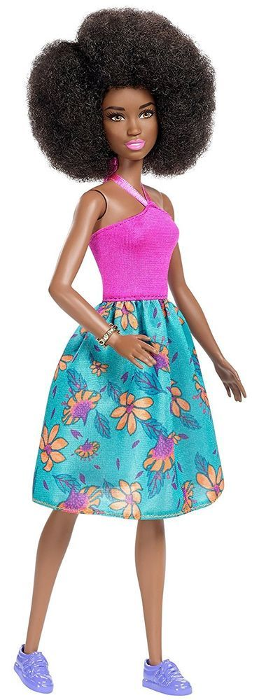 New 2017 Barbie Evolution Fashionista Doll Aa Afro Pink
