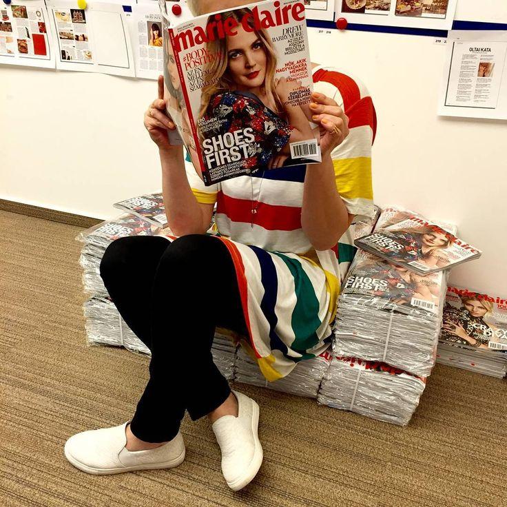 """""""Hurrááá! Hozzánk már megérkezett a májusi lapszám. Holnaptól nálatok! #marieclairehun #new #issue #comingsoon"""""""