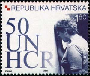 #459-460 Croatia - Refugee Organizations, 50th Anniv., Set of 2 (MNH)