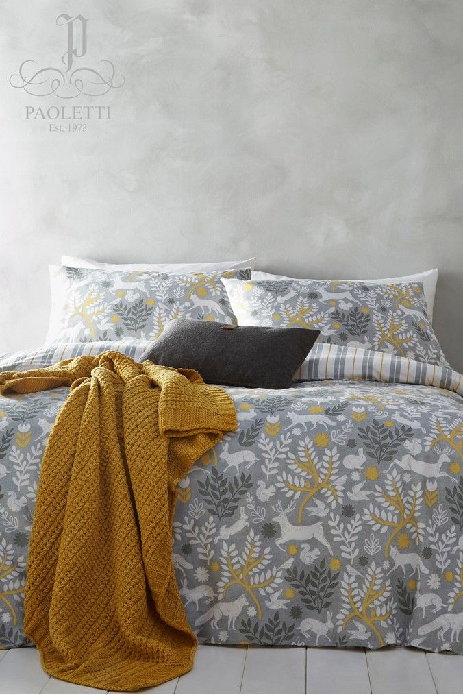 Buy Riva Home Exclusive To Next Brushed Cotton Flannel Winter Stag Duvet Cover And Pillowcase Set From The Next Uk Online Shop Flannel Duvet Cover Duvet Covers Flannel Duvet