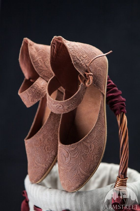 Medieval Leather Womens Shoes medieval shoes womens by armstreet, $99.00 - Curse you, Kristie, for pinning something from this shop! I'm in a fit of covetousness at the moment.