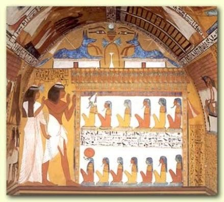 Small but amazing tomb of Sennedjem in the Valley of the Artisans